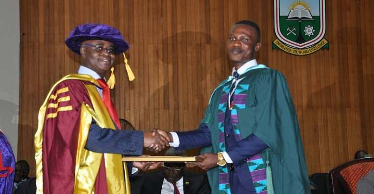 Congratulations To Barima Ba Emmanuel Aboa Boateng For Winning The Over-All Best Student At UMaT Graduation 2017