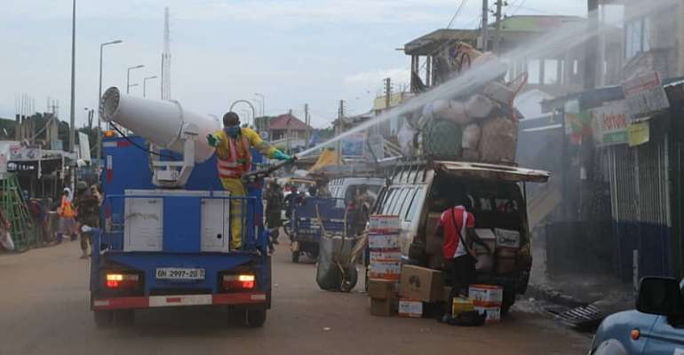 109 Markets In Upper West Region Disinfected