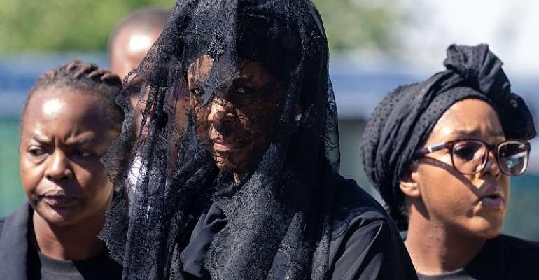 Grace Mugabe at the funeral of former president Robert Mugabe. - Source: JEKESAI NJIKIZANA/AFP via Getty Images