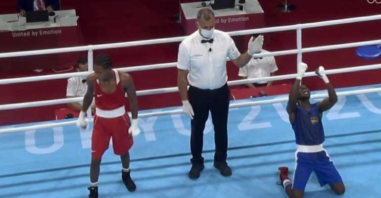 Tokyo 2020: Suleimanu Tetteh defeats Marte De La Rosa Rodrigo from Dominican Republic in style