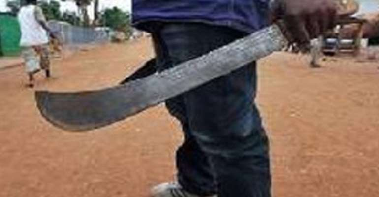 A/R: Man attacks wife with machete at Nkran