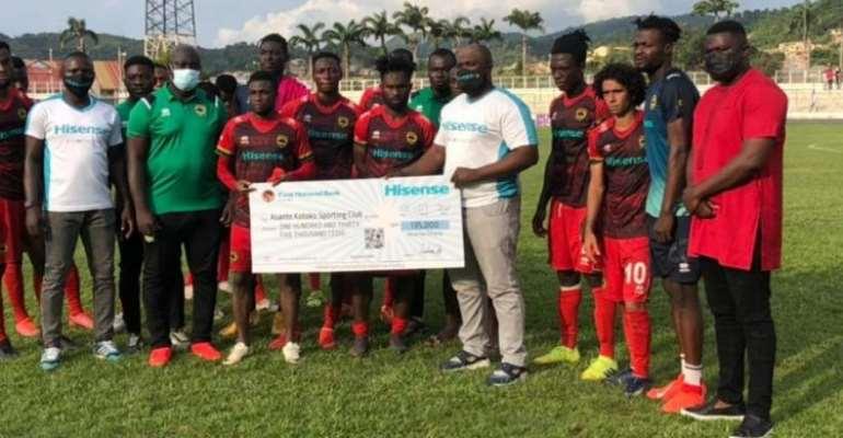 Hisense pay Asante Kotoko Ghs135, 000; other clubs Ghs 25,000 for scoring against Kotoko
