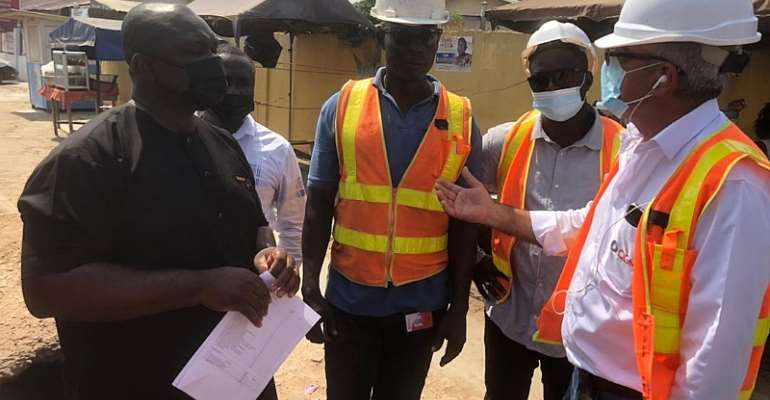 Former MP for Ablekuma Central inspects ongoing constituency projects