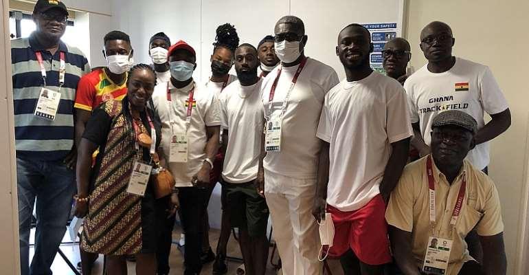 Professor Peter Twumasi visits Tokyo 2020  Games Village