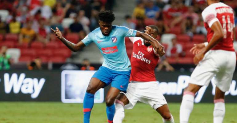 Thomas Partey Excels In Atletico Madrid Win Over Arsenal In International Champions Cup