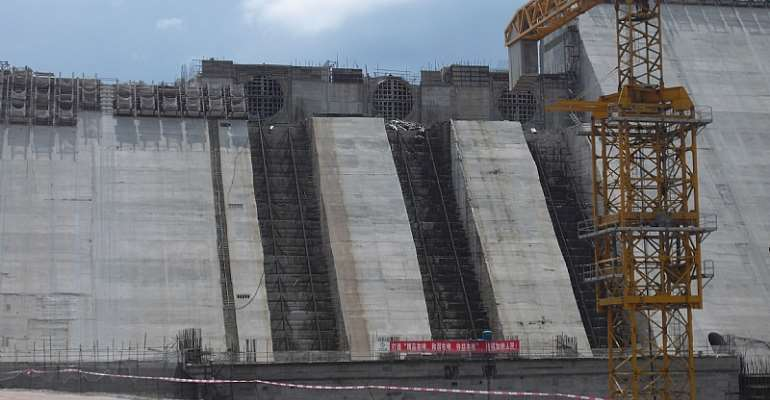 The Bui Dam is a tangible reminder of China's influence in Ghana - Source: Wikimedia Commons