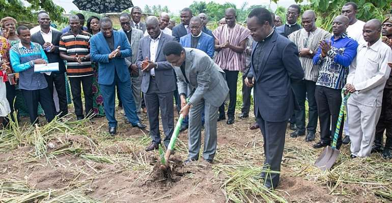 Pentecost Cut Sod For New Prison Facility At Nsawam