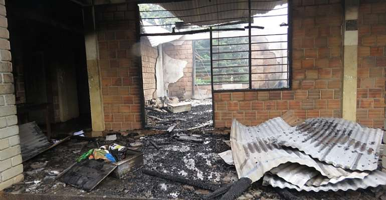 Fire destroys hostel at Don BOSCO vocational and technical school in Sunyani