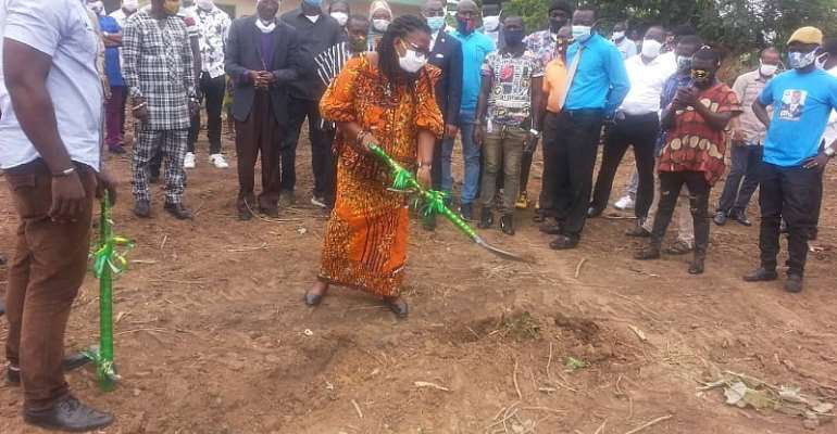 Birim Central Municipal Assembly Cuts Sod To Commence Over GHC1 Million Projects