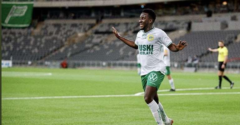 Ghana forward David Accam nets winning goal for Hammarby IF against Maribor
