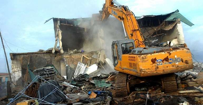 Ayawaso North Assembly Demolishes Structures