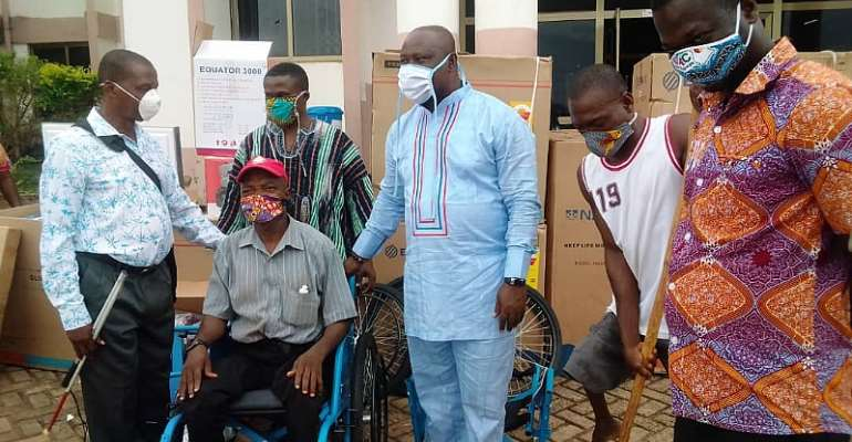 Prestea Huni-Valley Municipal Assembly Distribute Items To Persons Living With Disability (PWDs)