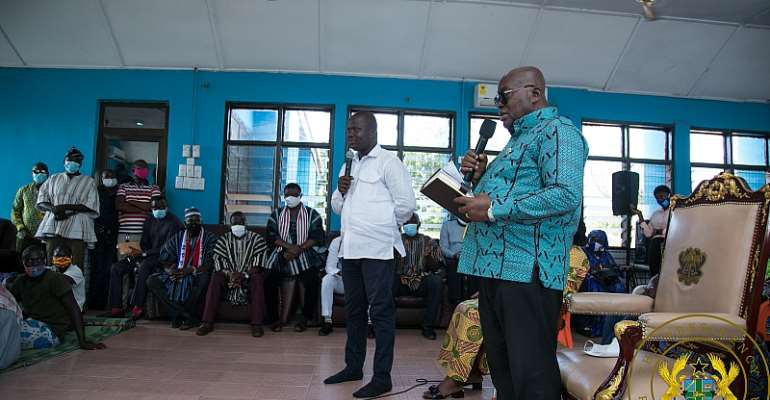 Akufo-Addo Cuts Sod For $49 Million Damongo Water Project