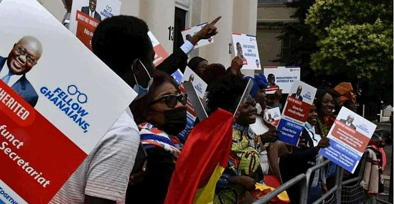 Some Ghanaians in UK embark on walk to show support to Akufo-Addo government