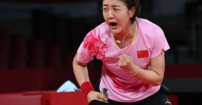 World number one Chen wins Tokyo 2020 table tennis gold after all-Chinese final