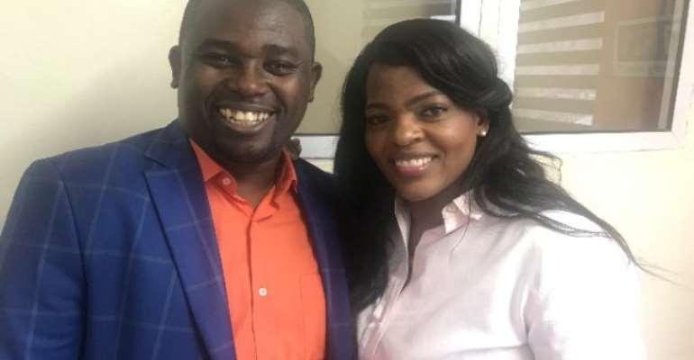 CEO Of Vodafone Ghana Surprises Joy FM's Nhyira Addo On His Birthday