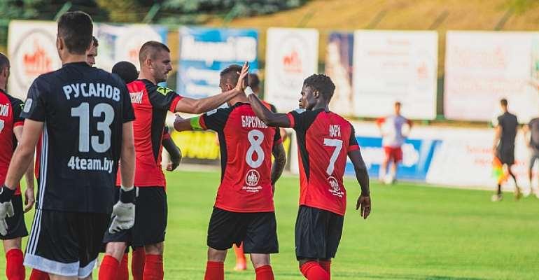 Ghanaian attacker Francis Narh on target for Slavia Mozyr in 2-0 win at FC Smorgon
