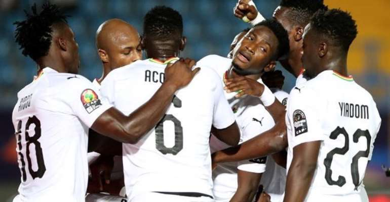 AFCON 2019: Black Stars Players Celebrates After Qualifying For Round 16 Of Tourney [VIDEO]