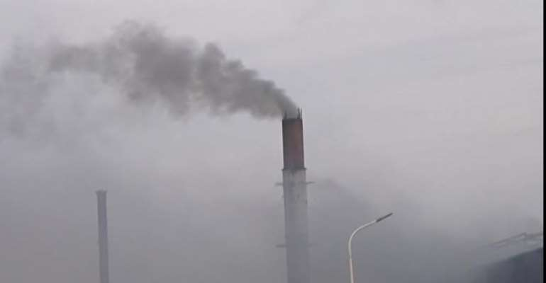 Pollution at steel factories at the Tema Free Zones enclave