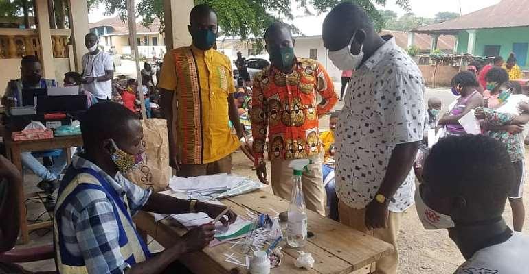 Agona East: DCE Visits Some Voter Registration Centers