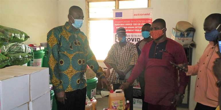 Upper East: Tree Aid Ghana Distributes COVID-19 Relief Package To Builsa South, Kassena