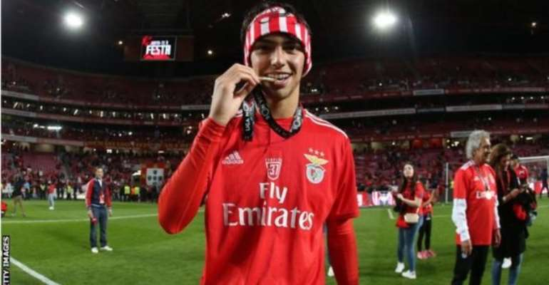 Joao Felix won the title with Benfica in his debut season