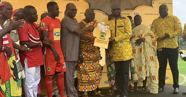 OFFICIAL: Kotoko Takes Hold Of New Training Pitch Constructed By MTN