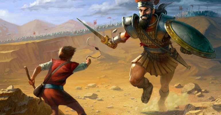Goliath cursed David, but it didn't work