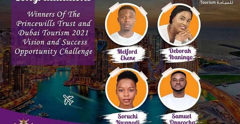 Dubai Tourism and Princewill Trust: Winners of Vision and Success Challenge Emerge