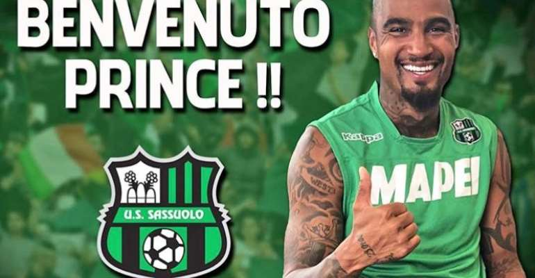 BREAKING NEWS: KP Boateng Completes Sassuolo Move