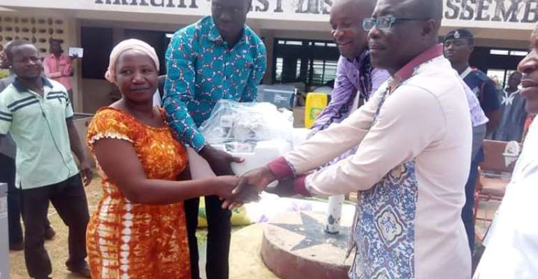 Krachi West Assembly distributes items to disabilities