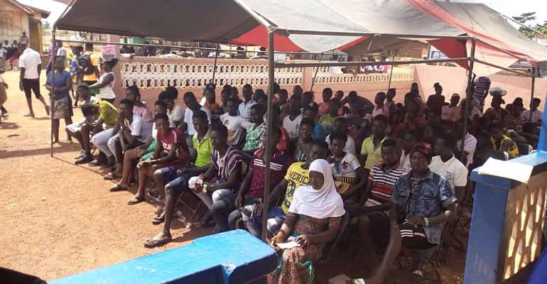 Limited Voters Registration:hon.patrick Hockson Amponteng Visits Centres In Amenfi Central,