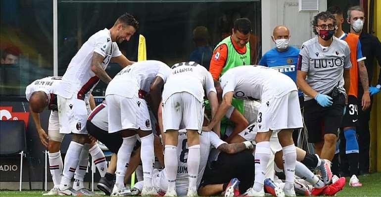 Esultanza Bologna contro l'Inter a San Siro  Image credit: Getty Images