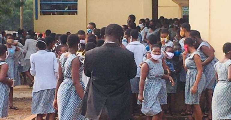 Parents Storm Accra Girls SHS After COVID-19 Infections