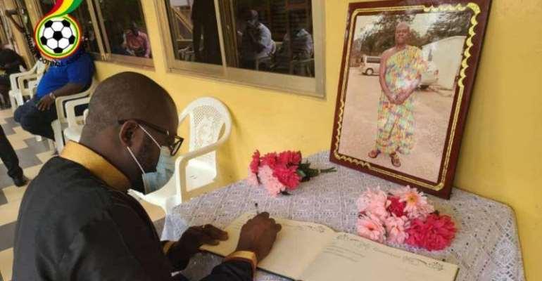 Kurt Okraku Leads GFA Delegation To Call On Family Of Late Opoku Afriyie