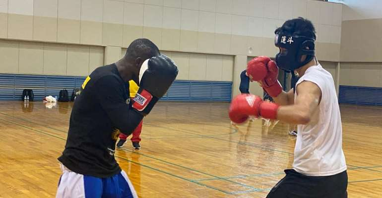Tokyo 2020: Black Bombers spar with Japanese national team