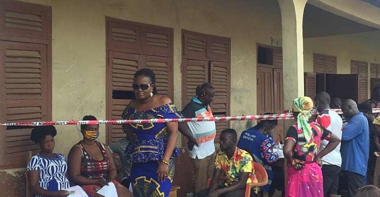 Wenchi: Professor Tina Abrefa-Gyan Visits Registration Centres