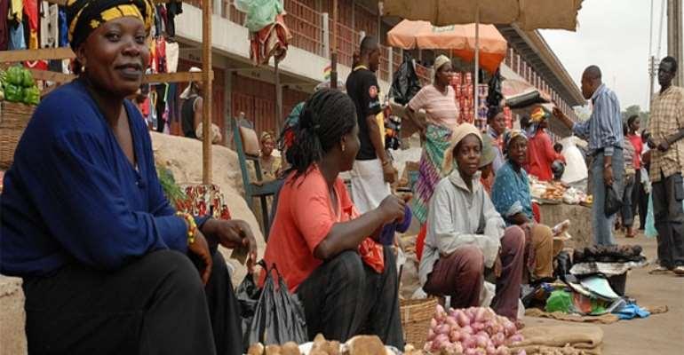 Some market women at work