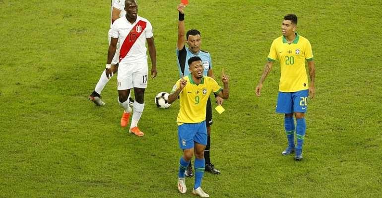 Gabriel Jesus Sent Off In Copa America Final