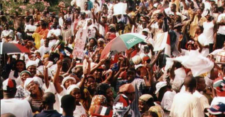 Rawlings electrifies NDC regional rally