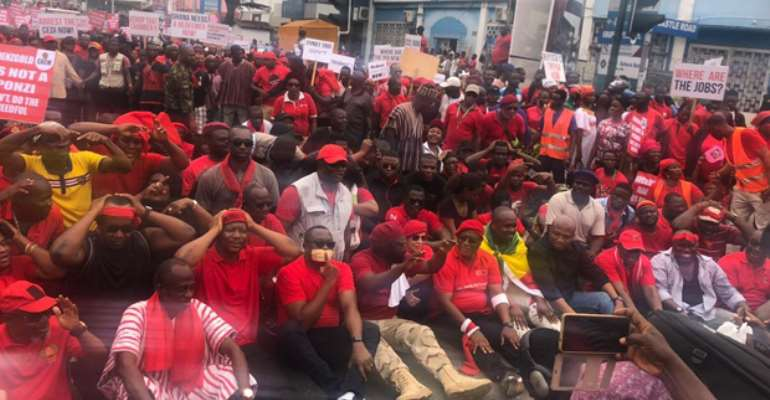 NDC Leaders Sit On Floor In 'Kum Yen Preko' Demo