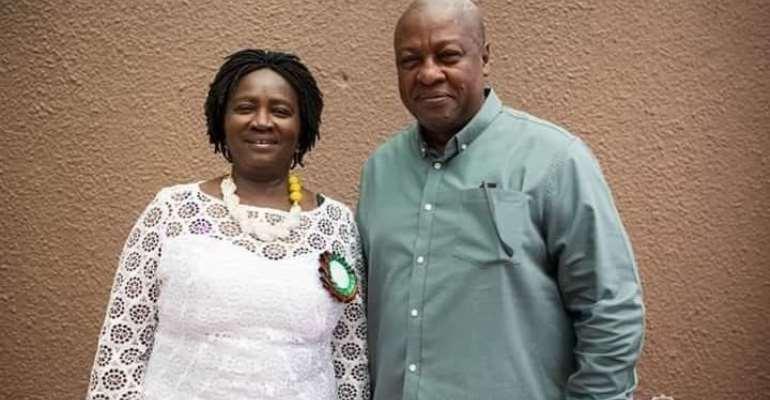 Jane Naana Opoku-Agyemang and John Mahama