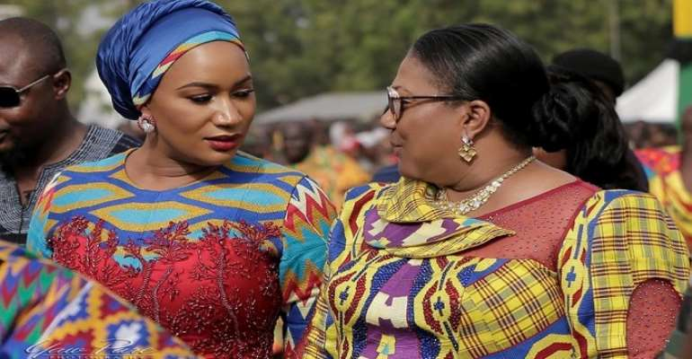 Define specific roles for 1st and 2nd ladies of Ghana — Franklin Cudjoe