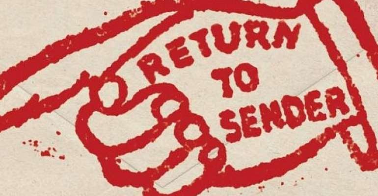 Back to sender or blessings to sender?