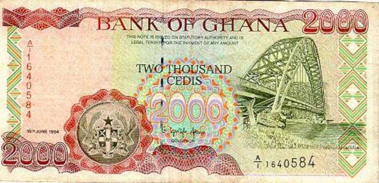Minimum Wage up by 2000 cedis