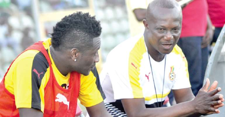 'I Am The Reason Why You Are Celebrated Coach' - Asamoah Gyan Punches Coach Kwesi Appiah