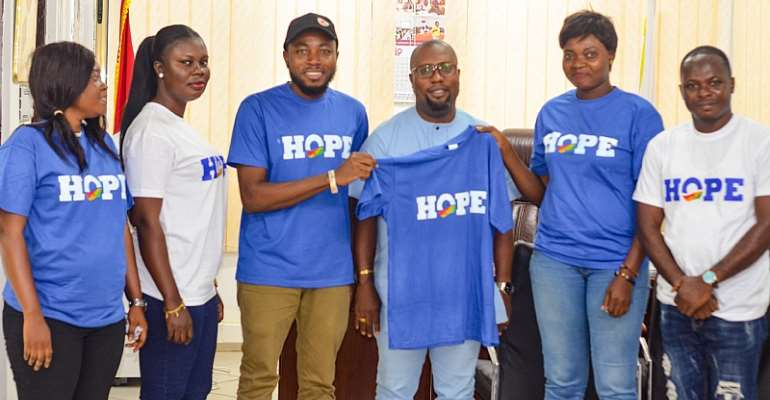 HOPE Campaign Executives Pay Courtesy Call On Prestea Huni-valley MCE