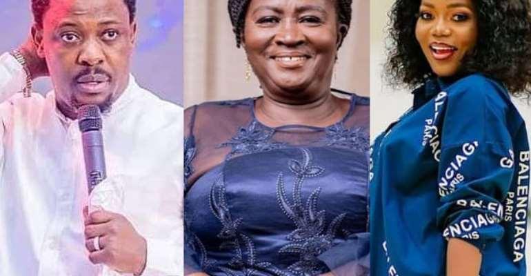 Prophet Nigel Gaisie, Prof. Naana Jane Opoku-Agyeman and Mzbel