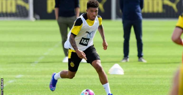 Borussia Dortmund want a fee of about £100m for winger Jadon Sancho