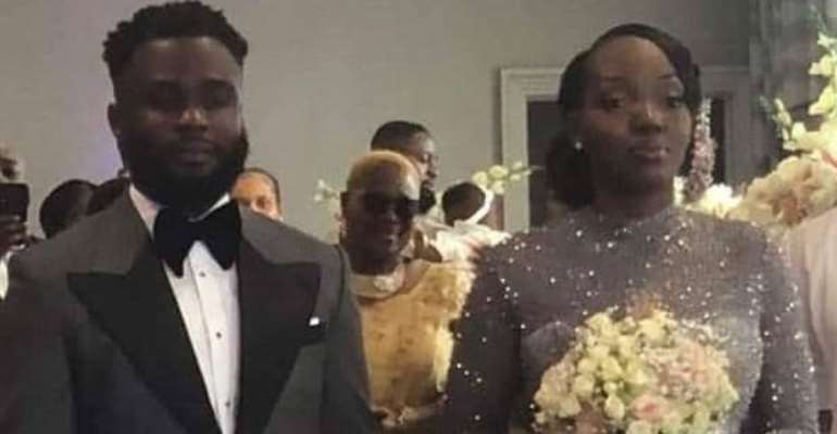 Kofi Mills and bride